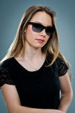 Beautiful Young Woman with Sunglasses Royalty Free Stock Photos