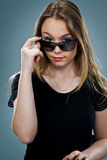 Beautiful Young Woman with Sunglasses Stock Image