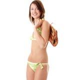 Beautiful young woman in swimwear Stock Photos