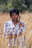 Beautiful Young Woman in Tall Grass (4) Royalty Free Stock Photos