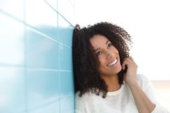 Beautiful young woman  thinking Royalty Free Stock Photography