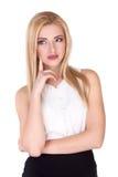 Beautiful young woman thinking - Stock Image Royalty Free Stock Image