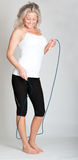 Beautiful young woman about to jump rope Royalty Free Stock Photography
