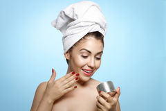 Beautiful Young Woman With A Towel On Her Head Royalty Free Stock Photography