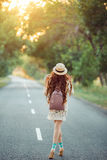 Beautiful young woman traveling. Royalty Free Stock Photos