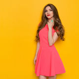 Beautiful Young Woman With Turquoise Ring Royalty Free Stock Photos