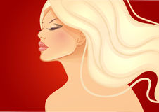 Beautiful and young woman. Vector illustration of Beautiful and young woman Stock Photos