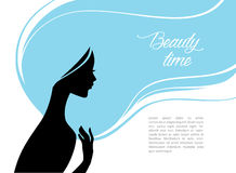 Beautiful and young woman. Vector illustration of Beautiful and young woman Royalty Free Stock Photo