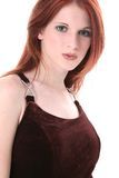 Beautiful Young Woman In Velvet Dress Stock Images