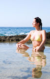 Beautiful young woman in the water Royalty Free Stock Image