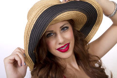 Beautiful young woman wearing braces on her teeth Royalty Free Stock Photo