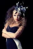 Beautiful young woman wearing fashion hat Royalty Free Stock Photos