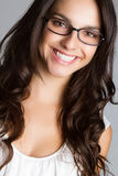 Beautiful Young Woman Wearing Glasses Stock Photo