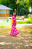 Beautiful young woman wearing japanese traditional Royalty Free Stock Photo