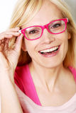 Portrait of pink lady Stock Photography