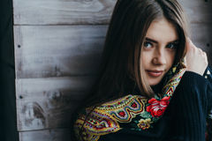 Beautiful Young Woman Wearing Scarf Royalty Free Stock Image