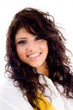 Beautiful young woman wearing stylist dress Stock Photo