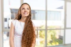 Beautiful young woman wearing summer fedora Royalty Free Stock Photography