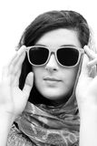 Beautiful young woman wearing sunglasses Royalty Free Stock Image