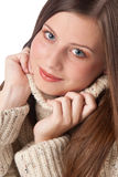 Beautiful young woman wearing turtleneck Royalty Free Stock Photo