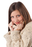 Beautiful young woman wearing turtleneck Stock Image