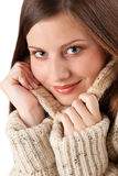 Beautiful young woman wearing turtleneck Stock Photography