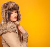 Beautiful young woman wearing a winter coat Royalty Free Stock Image