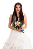 Beautiful young woman in a wedding dress Stock Photography
