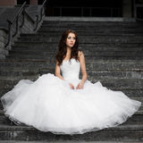 Beautiful young woman in wedding dress Stock Image