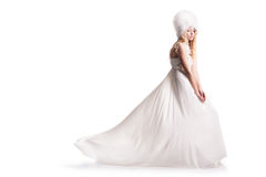 The beautiful young woman in a wedding dress Royalty Free Stock Image