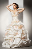 The beautiful young woman in a wedding dress Stock Photo