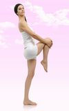 Beautiful young woman in white underwear Royalty Free Stock Photos