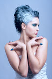 Beautiful young woman with winter Royalty Free Stock Images