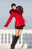 Beautiful young woman at winter Royalty Free Stock Photos