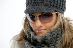 Beautiful young woman with winter clothes Royalty Free Stock Image