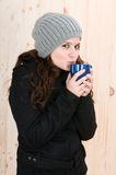 Beautiful young woman with winter clothes Royalty Free Stock Photography