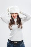 Beautiful young woman in winter clothes Royalty Free Stock Images