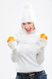Beautiful young woman in winter clothes Royalty Free Stock Photo