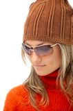 Beautiful young woman with winter clothes Royalty Free Stock Photo