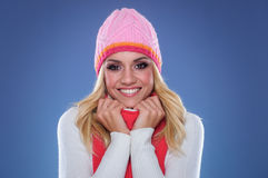 Beautiful young woman in winter clothes Royalty Free Stock Image
