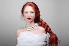 Beautiful Young Woman With Red Hair Bride Stock Images