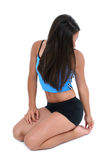 Beautiful Young Woman In Work Out Clothes Taking A Break Stock Images