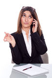 Beautiful young woman at work Royalty Free Stock Images