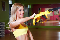 Beautiful young woman working out Stock Photos
