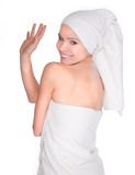 Beautiful young womanin spa Royalty Free Stock Image