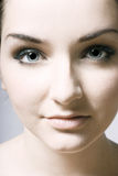 Beautiful young womans face Royalty Free Stock Photos