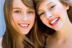 Beautiful young women stock photo