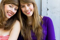 Beautiful young women stock image