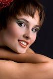 Beautiful young women close-up Stock Photos