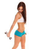 Beautiful young women exercising in a fitness center Stock Image